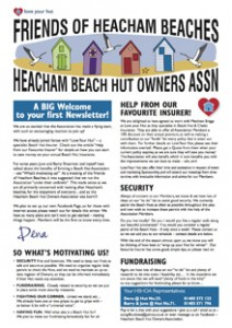 Heacham Beach Hut Newsletter (Thumbnail)